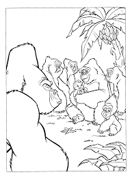 good tarzan baby gorilla coloring pages with gorilla coloring