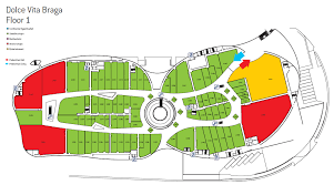 floor plan of a shopping mall nova arcada a shopping centre with a colourful steel puzzle envelope
