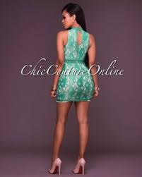 chic couture online aliza kelly green cut out maxi dress http