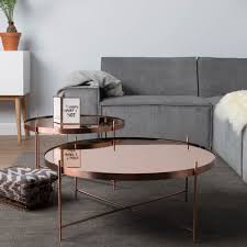 mirrored glass coffee table zuiver cupid copper round mirrored glass coffee table 4 living