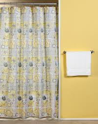 Gray Shower Curtains Fabric Simple Bathroom With Grey Yellow Bethany Fabric Shower