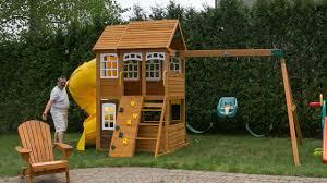 outdoor wonderful cedar summit playset for charming kids