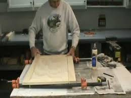 How To Make Kitchen Cabinet Doors How To Make A Flat Panel Cabinet Door Youtube