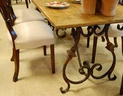 Wrought Iron Kitchen Table Fancy Wrought Iron Dining Table Bases Marvelous Ideas Base