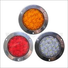 universal led tail lights 16pcs high bright led chips 1w round universal trailer led tail