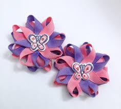 handmade hair bows pink purple butterfly small hair bow set handmade hair bow se