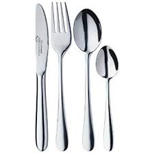 amazon com childrens 4 piece cutlery set stainless steel