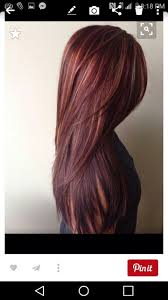Red Hair Color With Highlights Pictures 27 Best Friseur Images On Pinterest Hairstyles Hair Ideas And