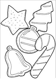 cookies and candy cane for christmas coloring page christmas