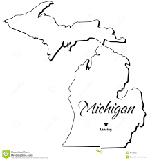 White Lake Michigan Map by State Of Michigan Outline Royalty Free Stock Photos Image 4674858