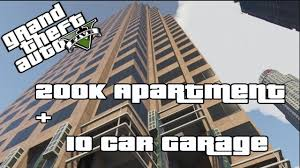 Big Car Garage by Gta V Online Buying Myself A 200k Apartment 10 Car Garage