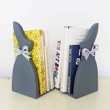 rabbit bookends pair of grey rabbit bookends by macey
