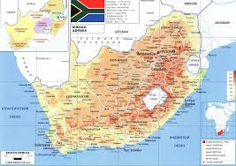 Map Of South Africa by South Africa