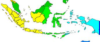 utc zone map in indonesia