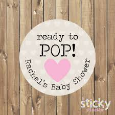 personalized ready to pop stickers baby shower stickers baby