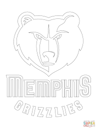 memphis grizzlies logo coloring page free printable coloring pages