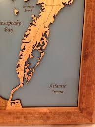 Chesapeake Bay Map Chesapeake Bay Virginia Maryland Wood Laser Cut Map