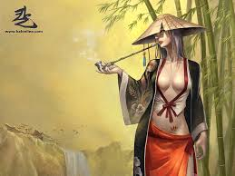 woman in bamboo kal online 1600x1200 wallpaper