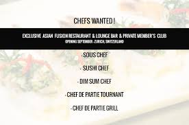 chef de partie en cuisine dim sum chef and wok chef for top fusion restaurant