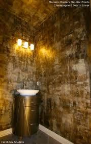 bathroom faux paint ideas modern masters chagne warm silver metallic paints in a powder