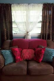 Chocolate Brown And Blue Curtains New Color Combination Living Room With Muted Aqua Walls