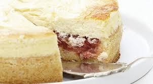 dessert à la rhubarbe au fromage blanc
