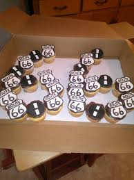 route 66 home decor route 66 cupcakes more birthday cakes pinterest route