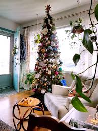 christmas decorated home boho style winter eclectic home tour a designer at home
