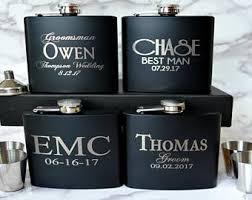 and groom flasks groomsmen gift 2 flasks personalized groomsman