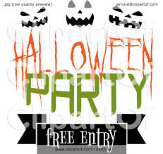kids halloween party clipart clipart of a halloween party free entry design with pumpkin faces