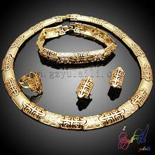 gold plated necklace wholesale images Alibaba best selling jewelry set nigeria costume necklace jewelry jpg