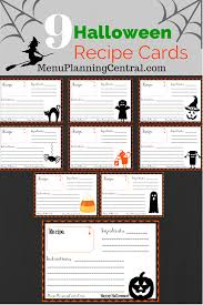 Printable Halloween Cards by Free Printable Halloween Recipe Cards Menu Planning Central
