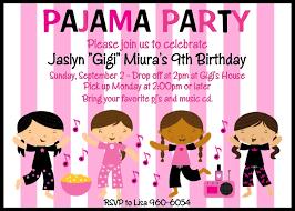 pajama invitations slumber invitations sleepover