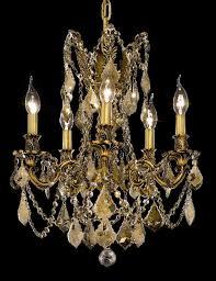 Lead Crystal Chandelier Brass Chandeliers By Elegant Lighting