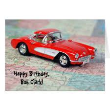 corvette birthday corvette cards invitations greeting photo cards zazzle