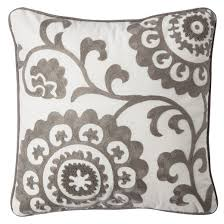 gray suzani embroidered throw pillow 18