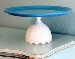 Ceramic Pedestal Cake Stand Moroccan Weddings Ceramic Cake Stand Pedestal In Cobalt Blue