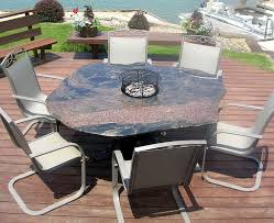 Firepit Dining Table by Rock Fire Pit Tables Made From Natural Stone Boulders 605 224 8089