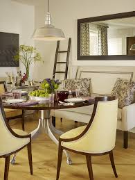 Wall Mirrors For Dining Room Rustic Round Dining Room Southwestern With Sideboard Beige Wall