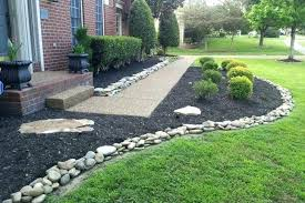 River Rock Garden Bed River Rock Garden River Rocks Landscaping Ideas Landscaping With