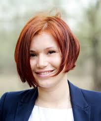 haircut with side parting for red hair women 2017