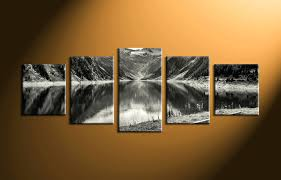 home decor ireland wall arts home decor 5 piece wall art forest group canvas black