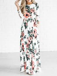 floral maxi dress maxi dresses white s bohemian floral maxi dress gamiss