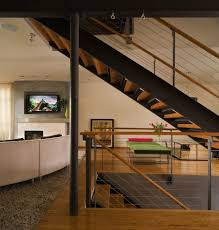 awesome bamboo railing with open floor plan wood rail