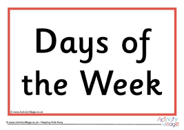 days of the week sign