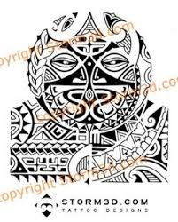 tribal polynesian mask tattoo for shoulder this tattoo des u2026 flickr
