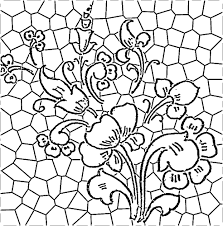 stained glass flower pattern plantillas mosaicos pinterest