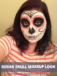 Day Of The Dead Halloween Makeup Ideas Sugar Skull Makeup Look Storybook Apothecary