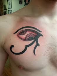 eye of horus tattoo on collarbone photos pictures and sketches