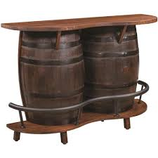 whiskey barrel bar table qw amish whiskey double barrel 60 bar table quality woods furniture